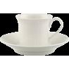 Tazza espresso con piattino Villeroy & Boch Cellini in porcellana
