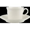 Tazza colazione con piatto Villeroy & Boch Cellini in porcellana