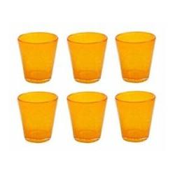 Confezione 6 bicchieri in vetro arancione Villa D'este