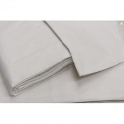 Completo lenzuola matrimoniale in percalle di cotone Daltex - bianco