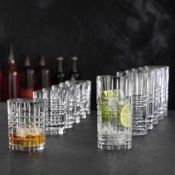 Set 12 bicchieri Nachtmann Highland square in cristallo molato