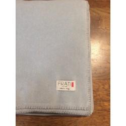 Coperta in pile matrimoniale Soft cotton Frati cm 260x220 - Grigio perla