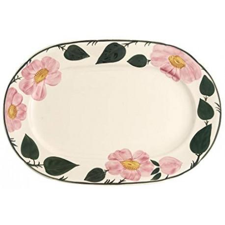 Piatto ovale Wildrose Villeroy & boch in porcellana cm 32