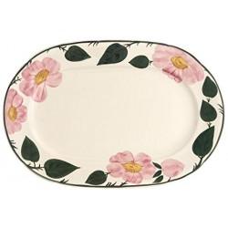 Oval plate Wildrose Villeroy & Boch porcelain 38 cm