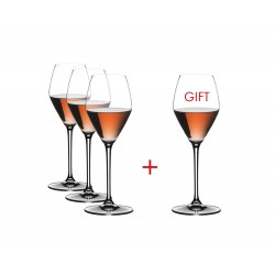Set 4 calice riedel extreme rose champagne in cristallo