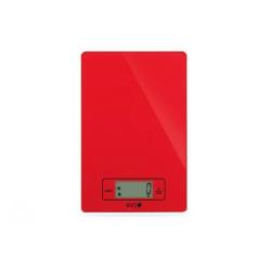 Bilancia da cucina elettronica Eva Collection vetro rosso