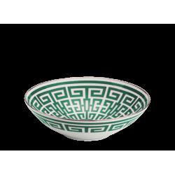 Coppa Gio Ponti Richard Ginori labirinto smeraldo cm 27