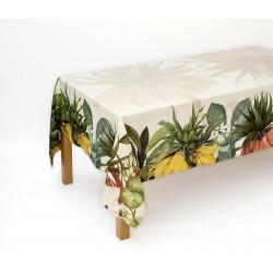 Tovaglia puro lino Fritillaria TheNapking stampa digitale 180x270 cm