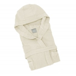Honeycomb ultralight bathrobe Somma Ultraleggero - ivory
