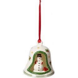 Bell whit snowman Villeroy & Boch My Christmas tree 2019