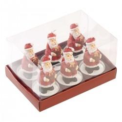 Set 6 tea lights santa Villeroy & Boch Christmas toys 2019