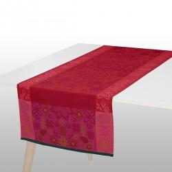 Striscia da tavola Le Jacquard Francais Rovaniemi cranberry 50x150 cm
