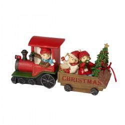 Christmas train whit children Villeroy & Boch Winter bakery 2019
