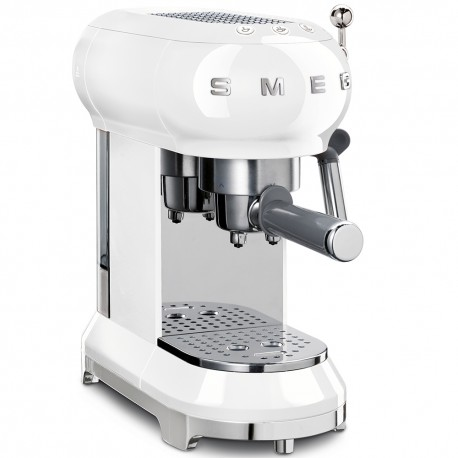 SMEG white espresso coffee machine