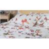 Mirabello butterfly completo lenzuola matrimoniale bianco