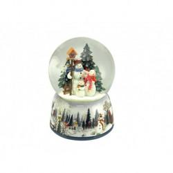 Carillon sfera di neve pupazzi di neve il mondo dei carillon
