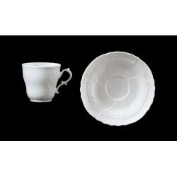Tazza caffè con piatto Vecchio Ginori Bianco Richard Ginori
