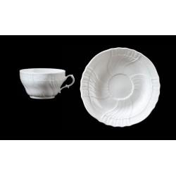Tazza tè con piatto Vecchio Ginori Bianco Richard Ginori