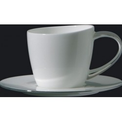 Tazza caffè con piatto Richard Ginori Eclissi filo platino