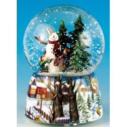Carillon Palla di neve con pupazzo di neve Il Mondo dei Carillon