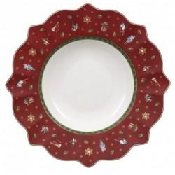 Set 6 piatti fondi rosso toy's delight Villeroy & Boch cm 26