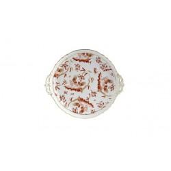 Piatto rotondo dolci Rouge di Doccia Richard Ginori 1735