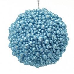 Addobbi Natalizi Sfera light blue Arte Sempreverde, Conefzione 4 pezzi