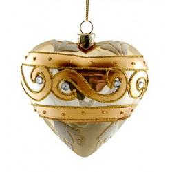 Addobbi Natalizi Addobbi Cuore gold Arte Sempreverde, Confezione 3 pezzi
