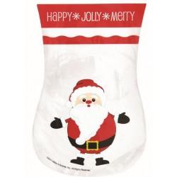 Sacchetti portabiscotti Decora Babbo Natale