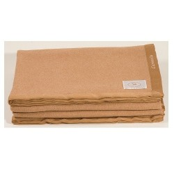Coperta cashmere e cammello CO.BI Aurora per letto singolo