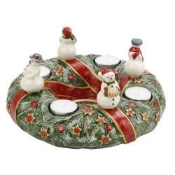 Corona dell'avvento con pupazzi di neve Villeroy & Boch Christmas toys memory
