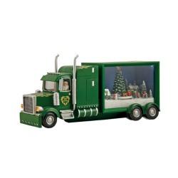 Camion babbo natale verde con carillon animato Il mondo dei carillon