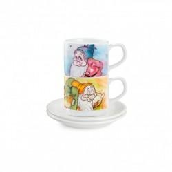 Set 2 tazze caffe' Disney Sette nani mammolo e pisolo