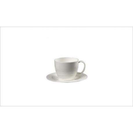 Tazza thè con piatto Richard Ginori Waves bianco