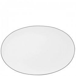 Piatto ovale Rosenthal Tac platino in porcellana