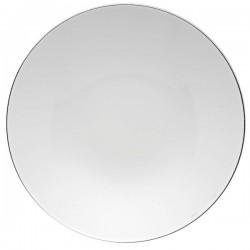 Piatto segnaposto Rosenthal Tac platino in porcellana