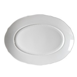 Vassoio ovale Richard Ginori Museo bianco cm 39,5