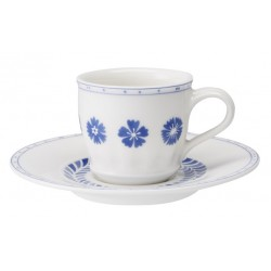 Tazza espresso con piattino Villeroy & Boch Farmhouse Touch blueflowers