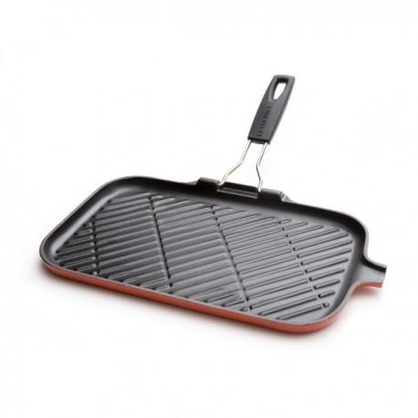 Le Creuset grill in ghisa rettangolare con manico reversibile